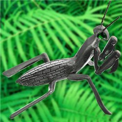 Praying Mantis Antique Silver Geocoin