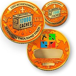 17000 Finds Geo-Achievement® Geocoin Set mit Pin