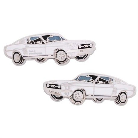 Ford Mustang Geocoin - White