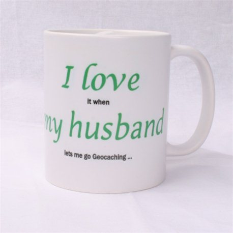 Kaffee + Teebecher:  I Love my Husband
