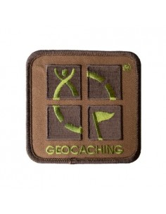 Geocaching Logo Patch Aufnäher Camo