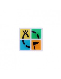 Geocaching Logo bunt Pin