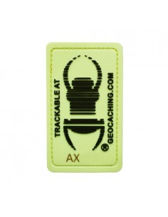 Travel Bug Patch Aufnäher glow in the dark trackable