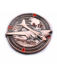 Flying Fortress Antik Kupfer Geocoin