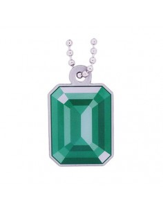 Mystery at the Museum Travel Tag - Emerald