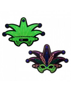 Mardi Gras Black Nickel Geocoin