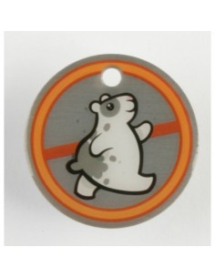 Hamster Orange Travel Tag