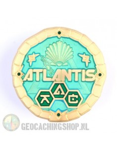 Atlantis The Lost Continent Aquamarin Geocoin
