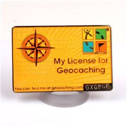 My Geocaching License Gelb