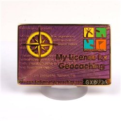 My Geocaching License - Purple