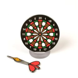 Dartboard Black Nickel Geocoin
